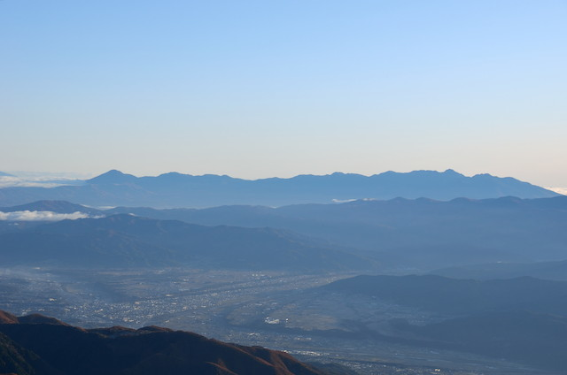 空木岳 山頂からの眺め 八ヶ岳