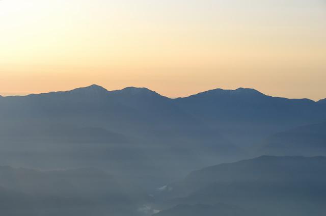 空木岳 山頂からの眺め 荒川三山