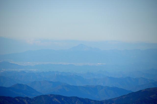 空木岳 山頂からの眺め 伊吹山