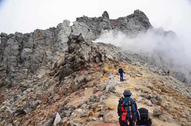 焼岳 新中の湯ルート