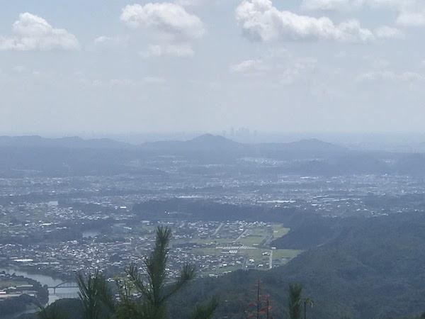 納古山 山頂 名古屋駅方面