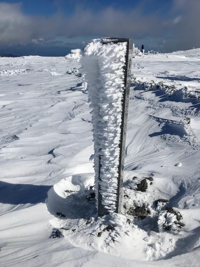 伊吹山 冬 雪山登山 エビの尻尾