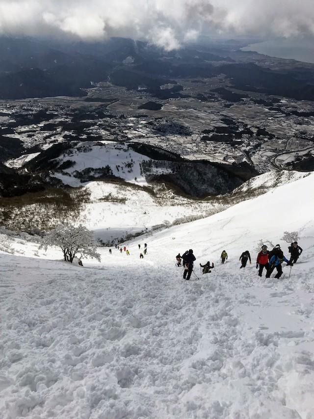 伊吹山 冬 雪山登山 下山