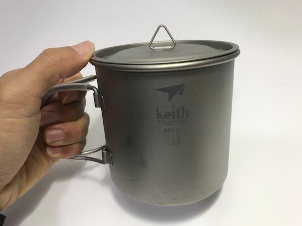 Keith フォールディングハンドル キャンプ用 マグカップ Ti3208 650ml