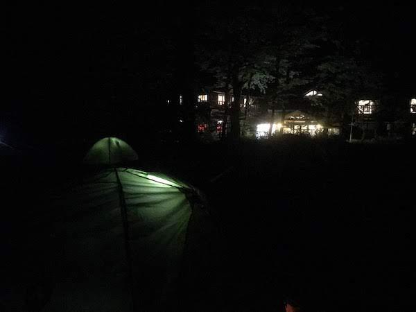 徳沢キャンプ場 夜景