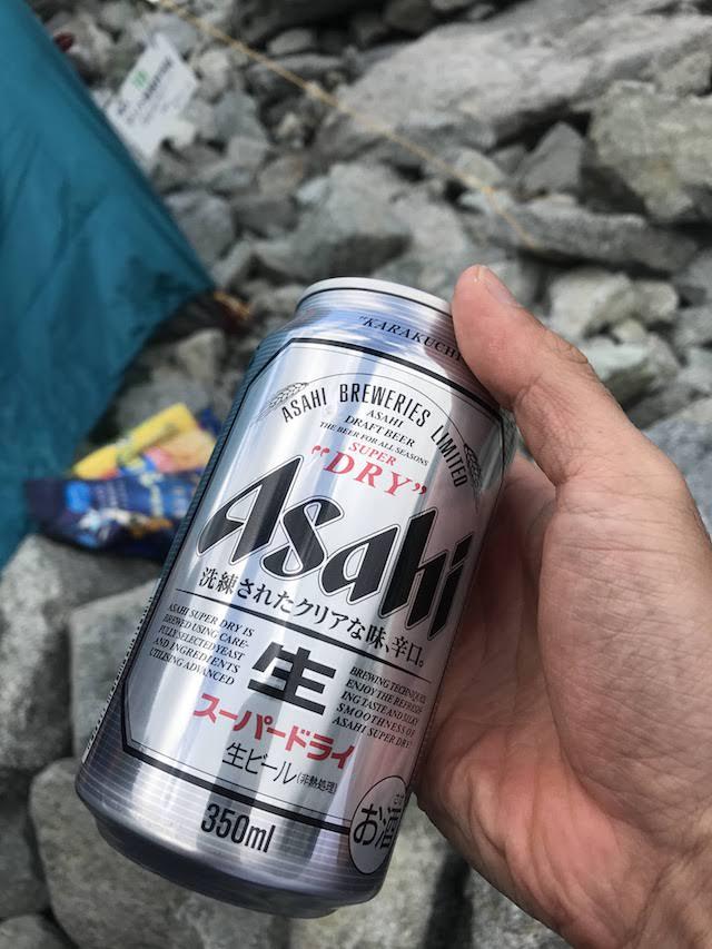 涸沢ヒュッテ テント場