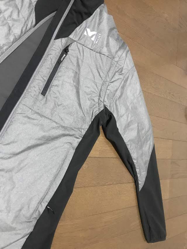 ミレー トイ ライト コンポジット ジャケット 前身頃から上腕部 3DeFX+