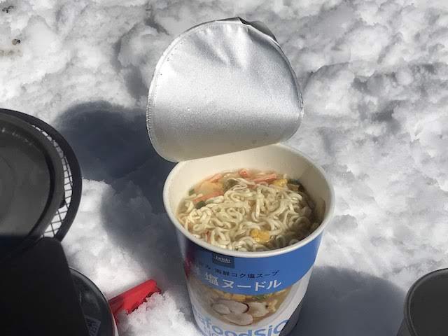 甲斐駒ヶ岳 山頂 食事