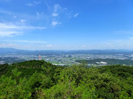 明王山見晴台 登山道