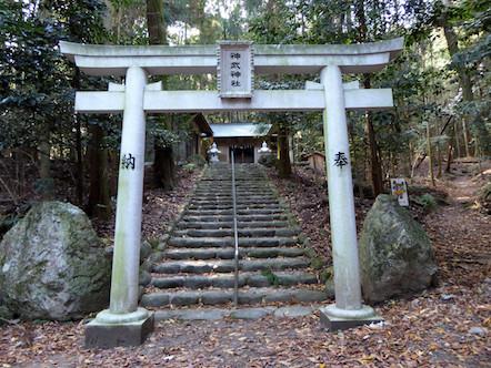 表登山道(大貝戸道) 神武神社