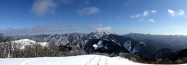綿向山 山頂からの眺め