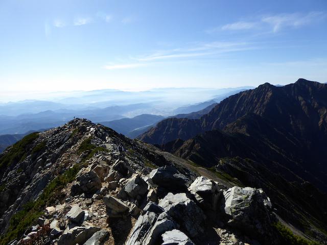 五竜岳 山頂