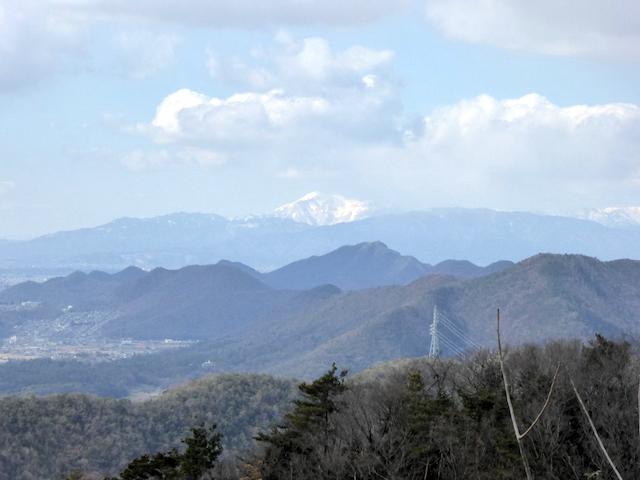 大岩見見晴台からの眺め 伊吹山