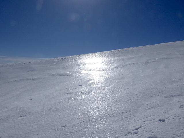 唐松岳 冬 氷の表層