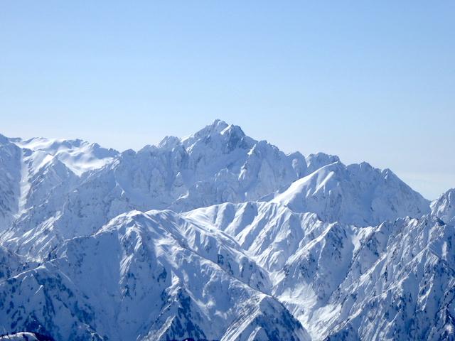 唐松岳頂上山荘からの眺め 剱岳方面