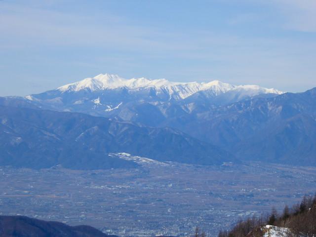 王ヶ頭からの眺め 乗鞍岳方面