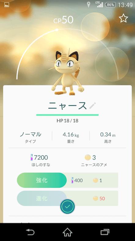 ポケモンGo 登山 ニャース