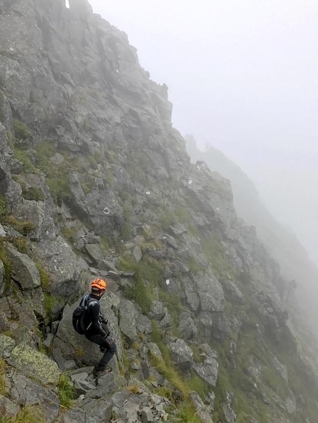 ミレー トイ ライト コンポジット ジャケット 北穂高岳での着用例
