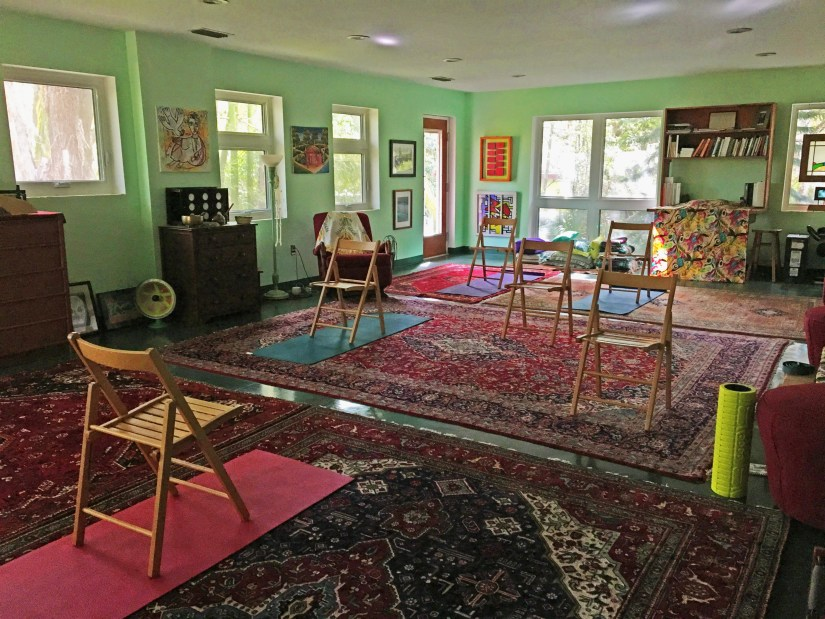 Chair yoga at Take Me To The River Yoga
