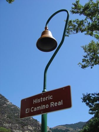historic el camino real bell sign