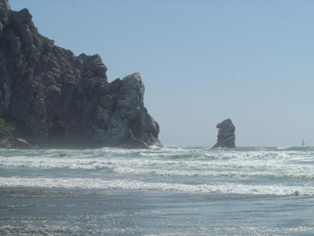 morro rock, morro bay, pacific ocean