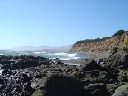 rocky beach along pacific coast highway
