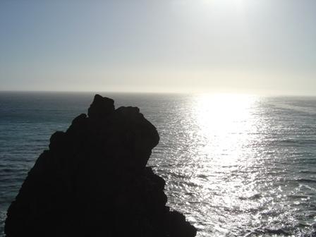 pacific ocean and rock