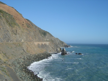 rocky coast, pacific coast highway