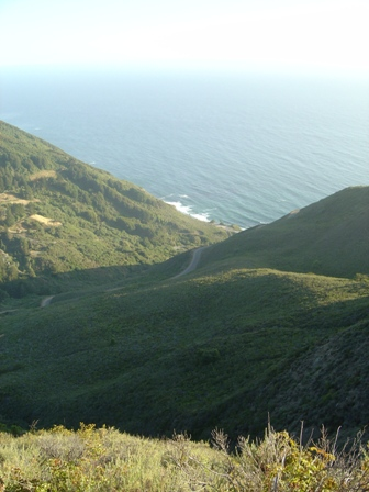 view from halfway up the nacimiento road