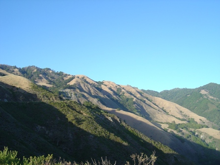 big sur mountains along pacific coast highway, and nacimiento road