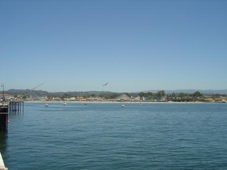 view of santa cruz boardwalk from the santa cruz pier