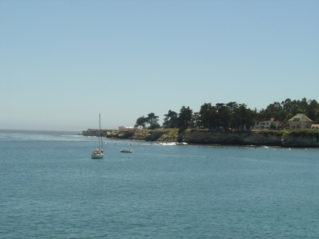 lighthouse area, from the pier at santa cruz