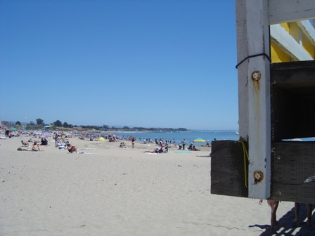 santa cruz beach, near the boardwalk