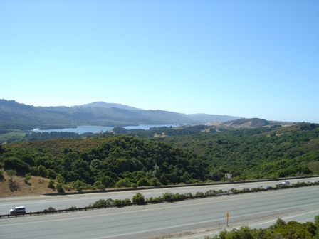 scenic view along interstate 280 south of san francisco