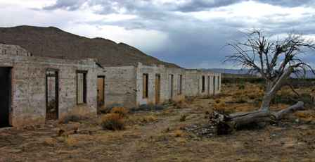 old motel ruins outside Guadalupe Mountains Park