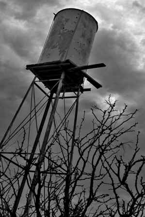 abandoned water tower in west texas