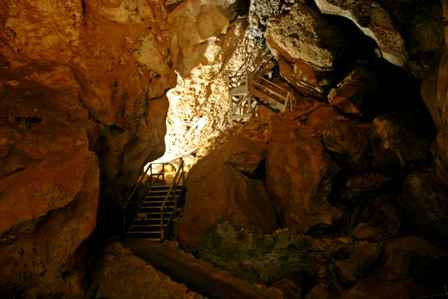 old stairs into Carlsbad Caverns National Park