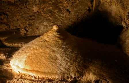 Stalagmite that looks like a nipple