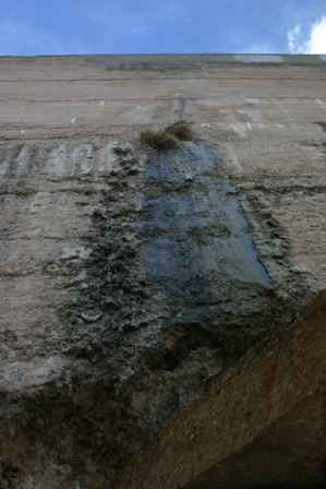 Leaky Spot in the Pecos Flume