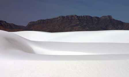Dunes and San Andres Mountains, White Sands National Monument New Mexico
