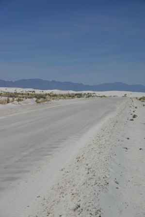 Gypsum Road into White Sands National Monument, New Mexico