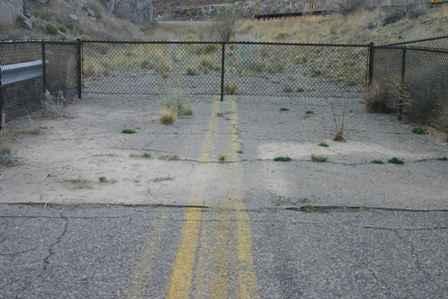 End of the road at Percha Creek Bridge