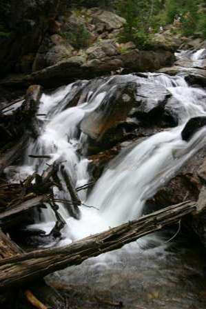 Waterfall, old Fall River Road, Rocky Mountain National Park (RMNP)