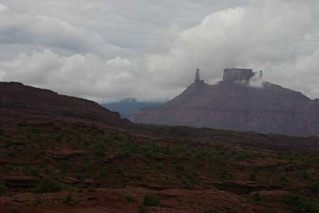 mountains near Fisher Towers