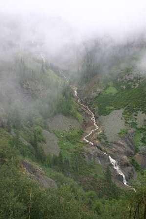waterfall along tomboy road