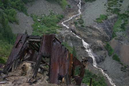 ghost town mine buildings, tomboy, near telluride