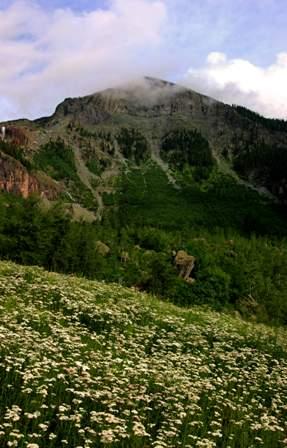 mountain near Bridal Veil Falls, above Telluride Colorado