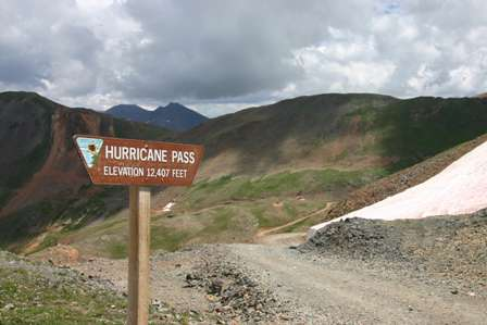 hurricane pass, 4wd road near Silverton, colorado