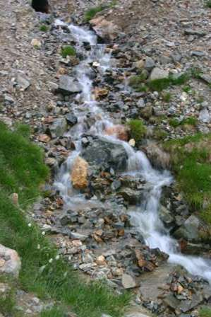 waterfall, san juan mountains