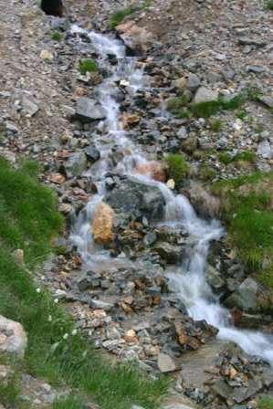 waterfall, san juan mountains